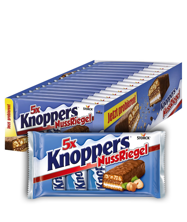 Knoppers NussRiegel 5er 15x5x40g