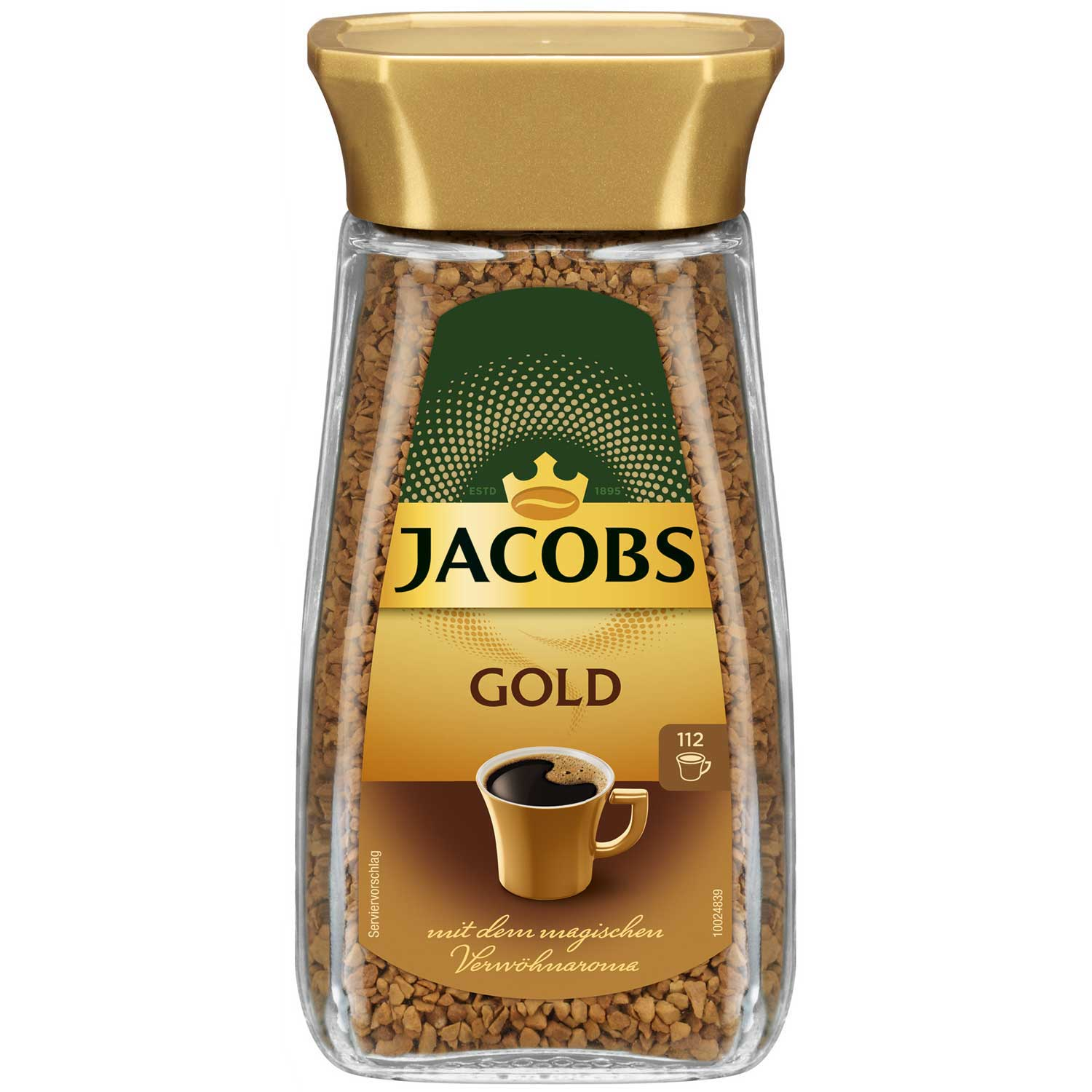 Jacobs Gold 6x200 g Glas