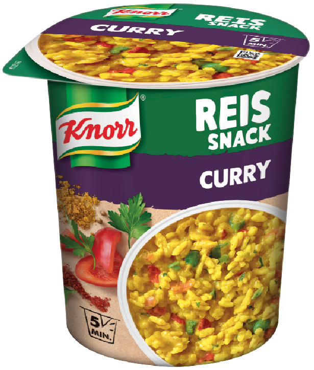 Knorr Reis Snack Curry 8x87g